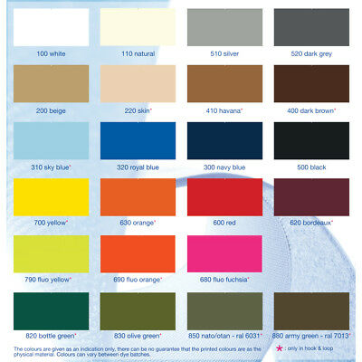 ALFATEX® BRAND BY Velcro COMPANIES SEW ON 25mm Hook And Loop Coloured