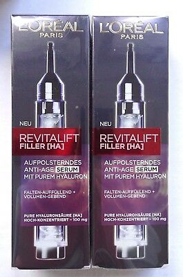 2x Loreal Paris Revitalift Filler [HA], Aufpolsterndes Anti-Age Serum, 2x 16ml