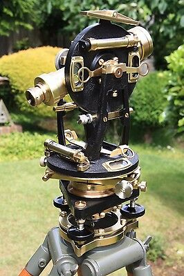 Vintage,Theodolite,Surveyors Watts Transit, Surveying Instrument, Antique.