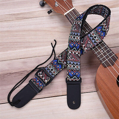Adjustable Bohemian Woven Ukulele Strap Sling With Hook For Ukulele Guitar