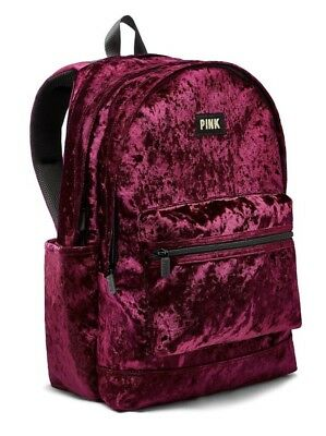 Victorias Secret PINK CAMPUS BACKPACK - MAROON/ RUBY VELVET - NEW WITH TAG