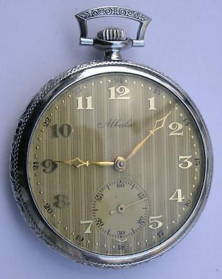 ANTIQUE/VINTAGE ART DECO ALBULA  MEN'S POCKET WATCH SWISS 1930's RARE+