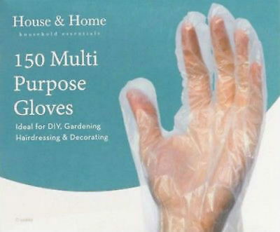 New150 x Multi Purpose Transparent Plastic Safety Gloves Disposable Hairdressing