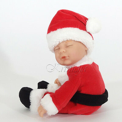 ANNE GEDDES DOLLS 'Bean Filled' collection NEW in Box BABY SANTA Doll 9'' 579126