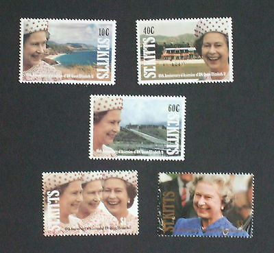 St Kitts 1992 40th Ann of Accession set MNH UM unmounted mint