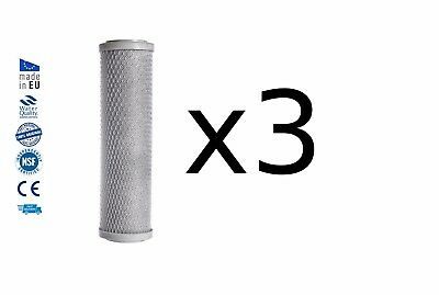 3x Reverse osmosis pre filters activated carbon block water filter replacements