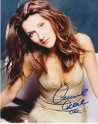 CELINE DION HAND SIGNED AUTOGRAPH PHOTO 8x10 RARE WITH COA INCLUDED HOT SHOT