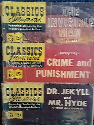 CLASSICS ILLUSTRATED--3 for 1--Issues #13, # 89, #153