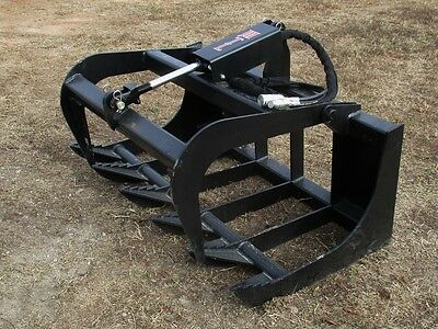 """MTL attachments Quick attach skid steer-Tractor 48"""" HD-XL Root Grapple-Free Ship"""