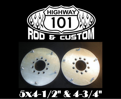 Wide Five Wheel Hub Adapter Aluminum Dual 5 on 4's Lug Pattern Axles Made in USA
