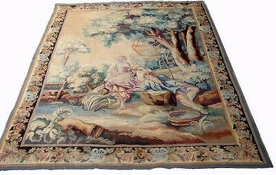 A Superb 19th Century Antique Wool and Silk French Tapestry