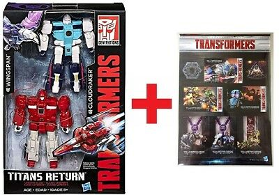 Transformers Generations Titans Return Wingspan & Cloudraker 2Pack Clones Figure