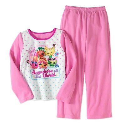 Girls Shopkins 2pc Flannel Pajama's Set Size 10/12 Winter New with Tags!! Kids