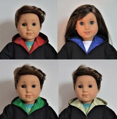 """Handmade Harry Potter Costumes 4 House Colors for 18"""" American Girl Boy Dolls"""