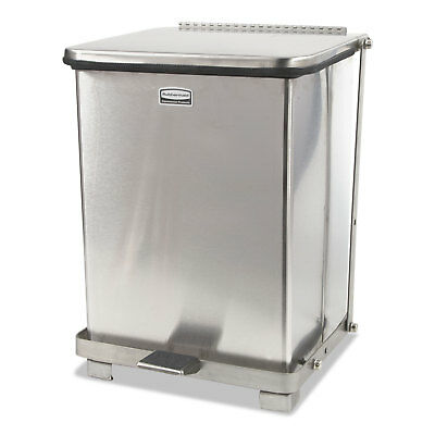 "Defenders Medical Step Can, Square, Stainless Steel, 7 gal, 12""Square, 17""H"