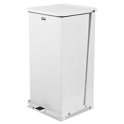 "Defenders Square Quiet Step Can, 24 gal, Sky White, 15"" Square"