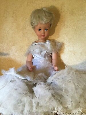 VINTAGE VERY LARGE 1950's ITALIAN DOLL Adorable!!