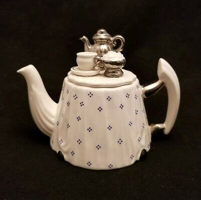 "Cardew Design ""Tea Time"" Novelty Miniature Porcelain Teapot England"