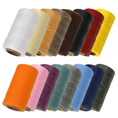 260m Flat Sewing Waxed Thread Cord Coarse Braid For Leather Shoes Craft DIY 1mm