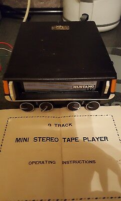rare mustang G T in car 8 track mini stereo tape player