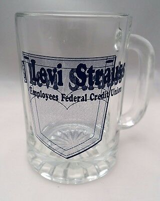 Levi Strauss Employee Credit Union Glass Advertising Glass 10 oz.
