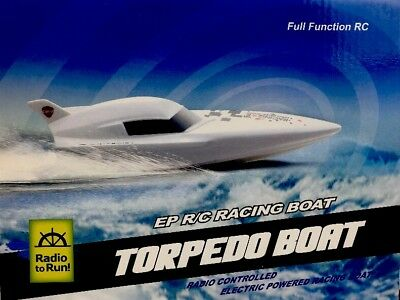 Electric Radio Remote Control Ship EP R/C High Speed Torpedo Boat Kid Toy Gift