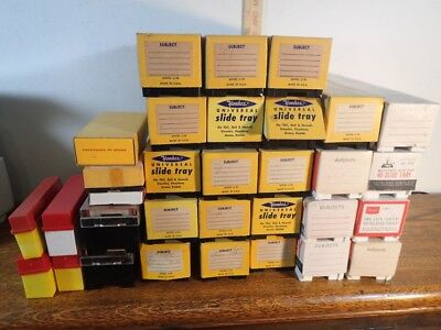 large vintage lot of 1000 plus unsorted mystery picture slides 1960s Hit-Miss