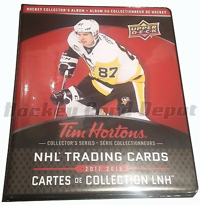 2017-18 UD TIM HORTONS LIMITED EDITION COLLECTORS BINDER Crosby Rare Holds Set!!