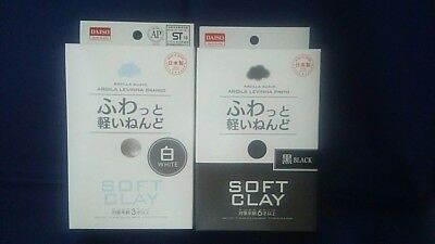 DAISO JAPAN DIY  Soft Clay 2 colors set   Made in JAPAN  F/Shipping F/Japan