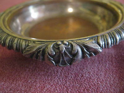 E.G. WEBSTER silver plate 80 mm coaster, NOT PRINCE OF WALES FEATHERS