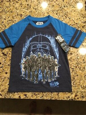 218dd8b7 DISNEY STAR WARS Rogue One Boy's Youth Blue T-Shirt size XS (4/5 ...