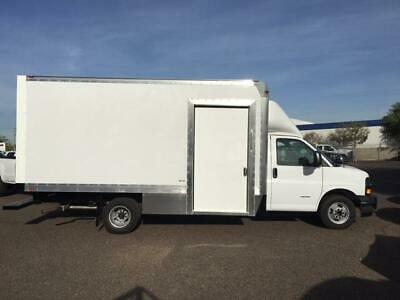 New 2017 Chevy Express 4500 Fedex On Trac 16Ft Box Truck Step Van Side Door Pass