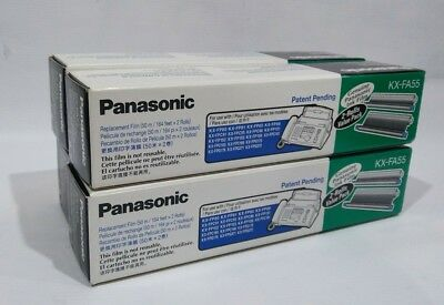4x 2-Packs (8 Rolls) Genuine Panasonic KX-FA55 Replacement Fax Film NEW