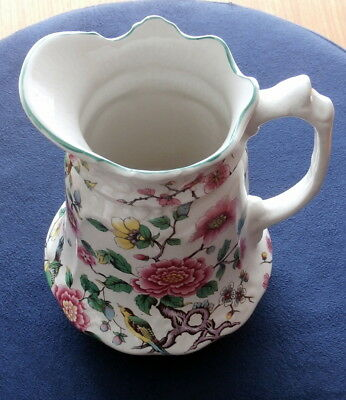 """OLD FOLEY by JAMES KENT LTD - CHINESE ROSE Pitcher 7 3/8"""" tall"""