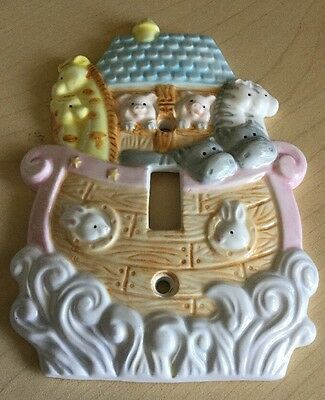 New Baby Noah's Ark Switch Plate Cover