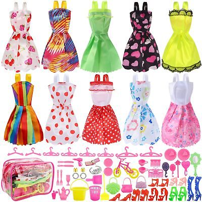 Doll Clothes Lot Party Gown Outfits And Accessories For Barbie Dolls Dress Girl