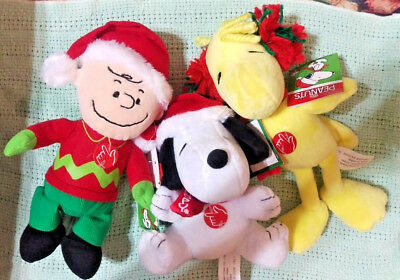 Peanuts Charlie Brown Snoopy Woodstock Stuffed Animals Your Choice