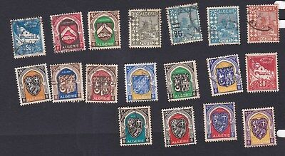 ALGERIA French Territory North Africa circa 1926 - 1947 selection of used stamps