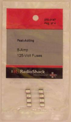 Fast-Acting 8-Amp 125-Volt GMA Glass Fuses 5 x 20mm 8A 125V 4/PK