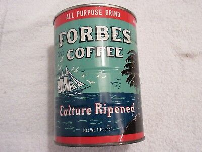 vintage coffee can tin Forbes Coffee lot S