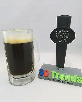 Chalk Board Tap Handle Black 3D Printed Chalkboard Keg Tapper Handle Beer