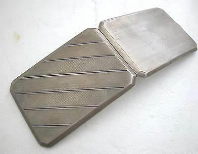 Art Deco Fine  Solid Silver Enameled Long Cigarette Case 146.5 Grams