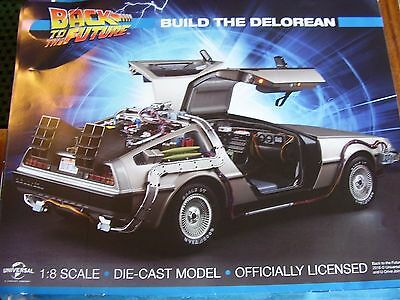 Eaglemoss Back To The Future Delorean Issue 40 1:8 Scale Build Your Own