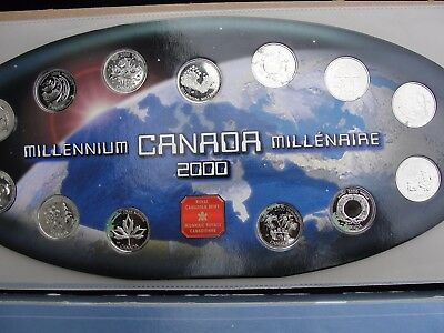 2000 Canada Millenium Quarters Proof Coin Set (NEEDS CLEANING.)
