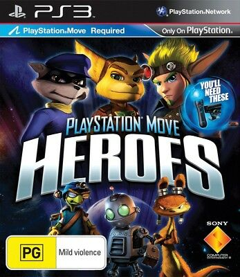 PlayStation Move Heroes *NEW & SEALED* PS3 PS Move Sly Jak Daxter Ratchet Clank