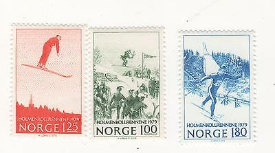 NORWAY 1979 Centenary of Skiing Competitions at Huseby & Holmenko SG#838-40 MUH
