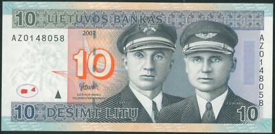 LITHUANIA 10 Litu (2007) Litas UNC banknote REPLACEMENT
