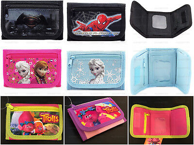 Kids Licensed Tri-Fold Coin ID Wallet Disney Marvel Wallet Toys for boys girls