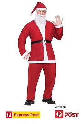 Santa Claus Dress Costume Santa Suit Christmas Party Outfit for Male Adult