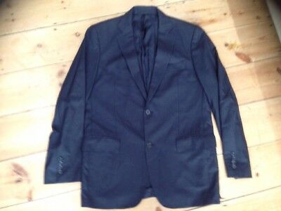 "Wesley Italy Summer Blazer Jacket 40""  Blue Single Breasted M"
